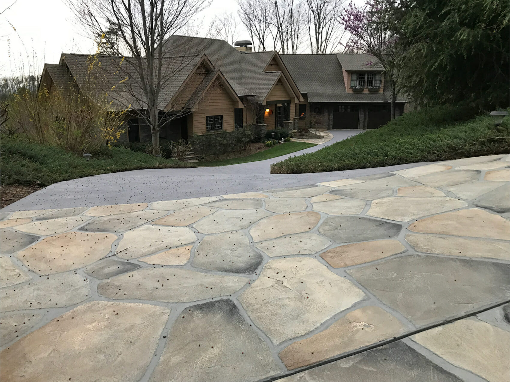 Gorgeous stone overlay with no cracks