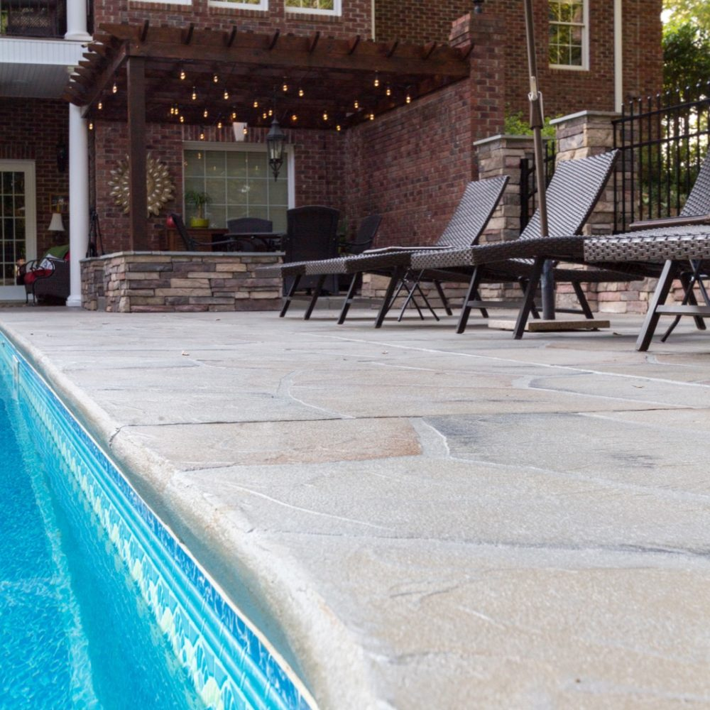 Easley backyard pool custom concrete