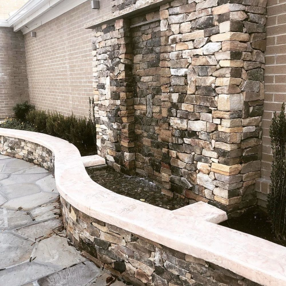 waterfall concrete feature